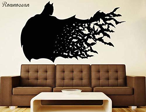 MICHAEL SMITHE Batman Wall Vinyl Decal Dark Knight Wall Vinyl Sticker Superhero Decals Nursery Decor Kid Room Decoration Wallpaper SP00 ()