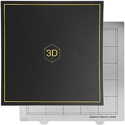 Tonysa Accesorios de Impresora 3D 300 * 300 mm Cama de Acero Placa ...