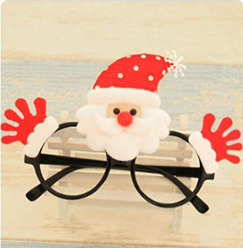 Grantparty Santa Claus Sunglasses Novelty Fancy Glasses Frame Christmas Party Costume]()