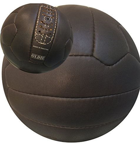 Antique Vintage Old Fashioned Soccer Ball Brown Size 5 Unique Gift Real Leather Ball
