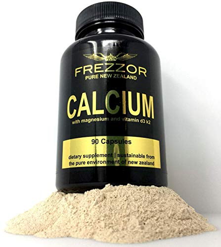 FREZZOR Calcium Plus, Magnesium, Vitamins K2 & D3, Microcrystalline Hydroxyapatite MCHC Phosphorous Balanced, Bone & Joint Support, Antioxidants, Wild Hoki Fish, Premium Mineral Capsules, New Zealand