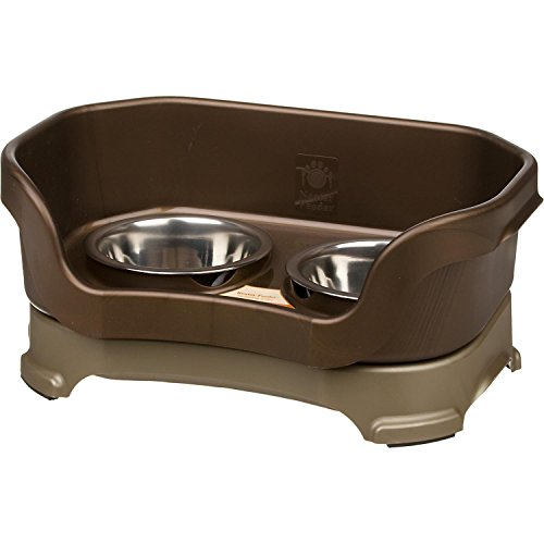 Neater Feeder Deluxe Dog (All Sizes) – The Mess Proof Elevated Bowls No Slip Non Tip Double Diner Stainless Steel Food Dish with Stand
