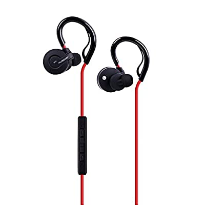 Ausdom S04 Bluetooth Wireless Stereo Sweatproof Jogger, Running, Sport In-ear Headphone, Earbuds headsets with NFC, Noise-isolating, In-line Microphone for iOS iPhone iPad iPod Touch,Andriod Smartphone Tablet PC