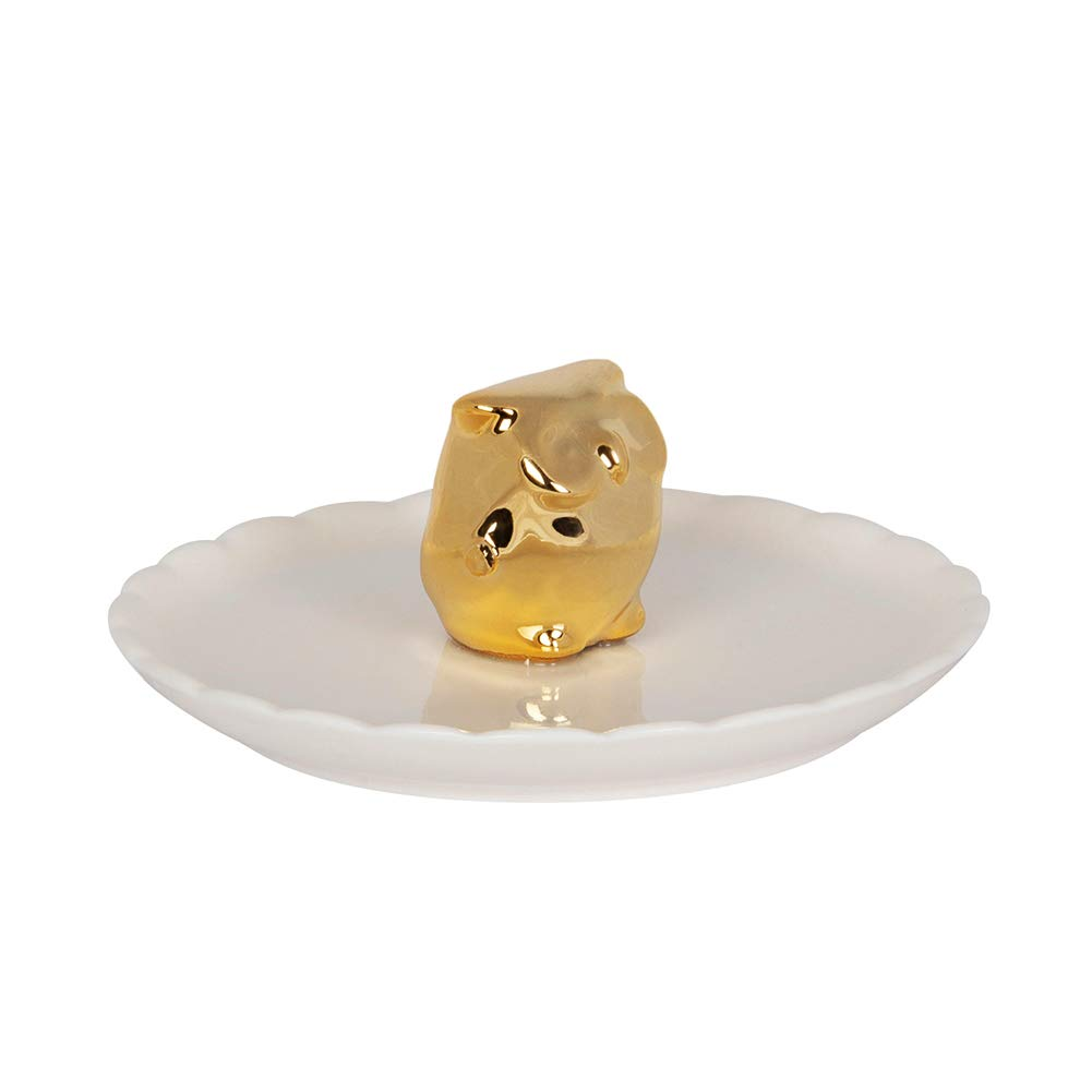 SHIYUAN Ring Holder Jewelry Tray Jewelry Ring Dish Storage Jewelry Placement Tray Cute Appearance Jewelry Tray (Owl, Gold)
