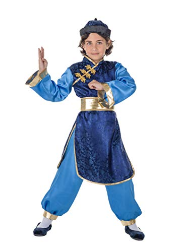 Banyant Toys Disfraz Chino Azul 3-4 años