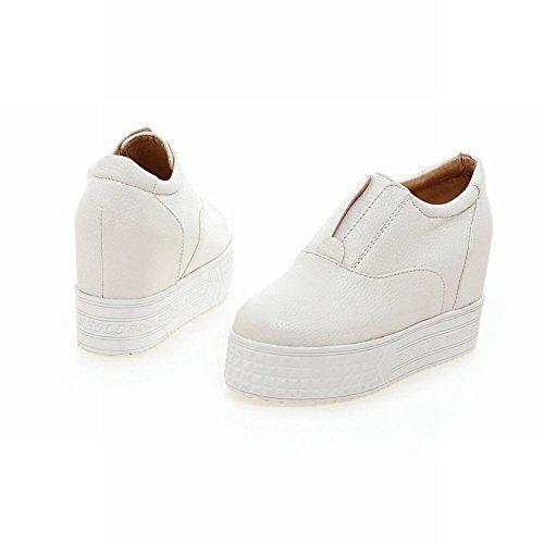 Mee Shoes Damen modern bequem Geschlossen invisibel Heel runder toe Durchgängiges Plateau Weiß