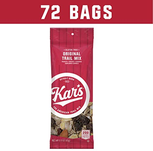 Kar's Nuts Original Trail Mix Snacks - Unsalted Blend of Peanuts, Raisins, Almonds & Sunflower Kernels - Bulk Pack of 1.5 oz Individual Single Serve Bags (Pack of ()