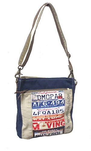 (Chloe & Lex Recycled Canvas License Plate Hipster Crossbody)