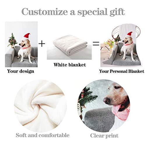 Personalized Throw Blanket Custom from Your Photo Fleece Blanket Super Soft for Baby & Adult. Great Wedding Gifts (Large… |