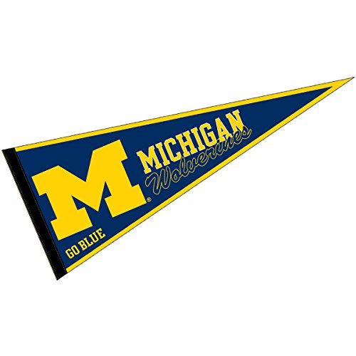 College Flags and Banners Co. Michigan Wolverines Pennant Full Size Felt - Michigan Wolverines Banner