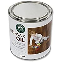 Fiddes Hard Wax Oil - Clear Satin 1ltr by Fiddes