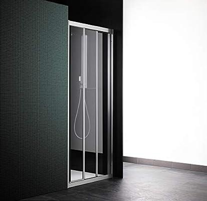 Cabina de ducha con puerta corredera, 3 puertas, 81 cm, cristal ...