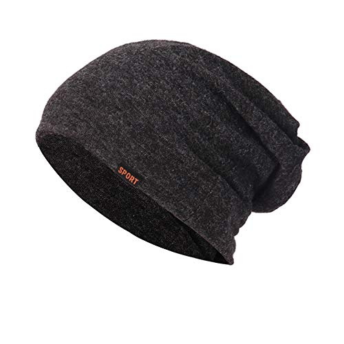 DongDong Fashion Hat, Solid Knitted Stacked Ear Protector Cap -