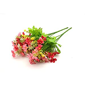 Broadfashion 1x 10 Heads Artificial Lavender Silk Flower for Bouquets Wedding Home Party Decor 42