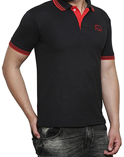 1ed8326a700c9 Grand Bear Smart fit Contras Coller Half Sleeve T-Shirt for Men ...