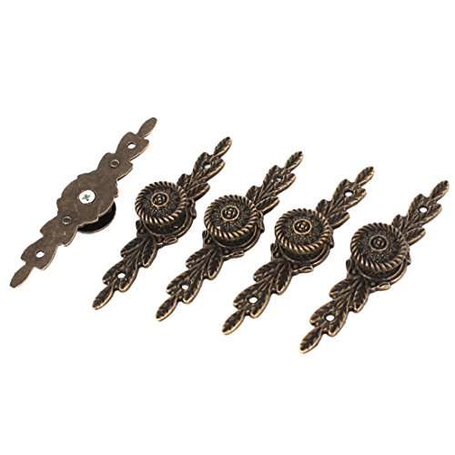 Hardware Drawer Door Classical Pull Handle Bronze Tone 5 Pcs w Screws (Hardware Jewelry)