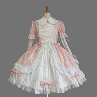 e8980c2dc ゴスロリィタ Lolita ロリータ服 衣装 洋服 COSMAMA LLTLZY0003 ピンクとホワイト 袖の取り外しが可能