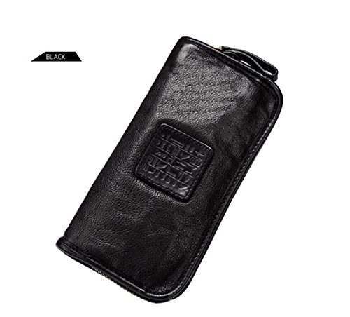 Sheepskin Luxury Black Business Mens Long Soft Men's Leather Money Wallet Genuine Yaoko Clip Purse O5qIwHw