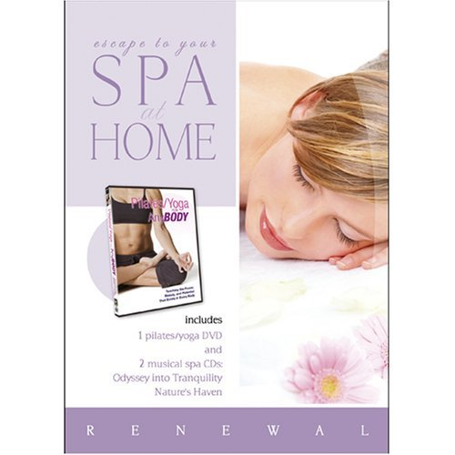 Spa at Home: Pilates/Yoga for Any Body with 2 CDs: Odyssey Into Tranquility and Nature's Haven