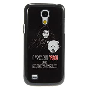 MOM ships in 48 hours I_WANT_YOU Pattern Aluminum&Plastic Hard Back Case Cover for Samsung Galaxy S4 Mini I9190