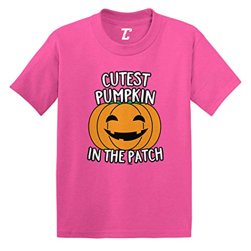 Cutest Pumpkin in The Patch - Halloween Infant/Toddler Cotton Jersey T-Shirt (Pink, 4T) ()