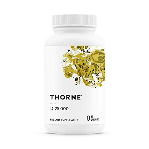 Thorne Research - Vitamin D-25,000 - Vitamin D3 Supplement (25,000 IU) for Healthy Bones and Muscles - 60 Capsules