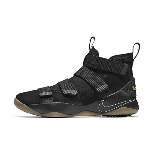 huge selection of 1c64f 603af Galleon - NIKE Men s Lebron Soldier Xi Basketball Shoe (8 D(M) US, Black  Black-Gum Light Brown)