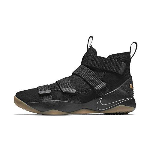 huge selection of f02d5 770a2 Galleon - NIKE Men s Lebron Soldier Xi Basketball Shoe (8 D(M) US, Black  Black-Gum Light Brown)