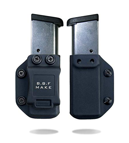 B.B.F Make Single IWB/OWB Magazine Holster | Mag Carrier | Ambidextrous | Retired Navy Owned Company | Available Model: M&P Shield 9/40, Glock 4/90/357, Sig P365, 1911 (Black - 1911 (3
