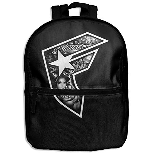 (Fashion School Backpack Famous Stars and Straps Outdoor Casual Shoulders Multipurpose Backpack Travel Bags for Children,Kids Black)