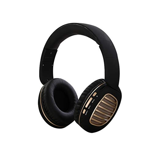Four Color Head-Mounted Headphones,Roisay Over-Ear Foldable Space-Saving Design Headphones Wireless Bluetooth 4.2 Stereo Headset Built-in CVC 5.0 Dual Microphone (D)