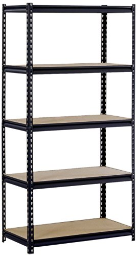 Tek Widget Heavy Duty 5 Tier Adjustable Metal Storage Unit by Tek Widget