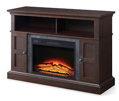 Winston.H.E- Electric Fireplace Media Center-Electric Fireplace Tv Stand-Cherry for TVs Up to 55