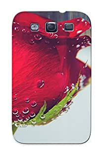 New Arrival Case Cover Dqmuir-5405-clvukqd With Design For Galaxy S3- Nature Flowers Roses Underwater Red Drops Best Gift Choice For Lovers