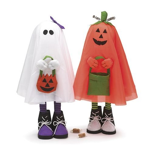 Vintage Halloween Trick Or Treaters (Set of 2 Tall 26