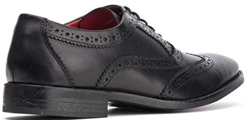 Base Hombres Negro London Zapatos Formal Brogues Cuero Waxy Bramble SSOwrq
