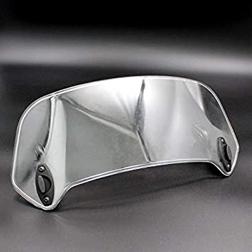 Fltaheroo Deflettore Antivento per Moto Bianco con Clip Regolabile sul Parabrezza