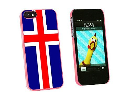 Graphics and More Iceland Flag Snap-On Hard Protective Case for iPhone 5/5s - Non-Retail Packaging - Pink