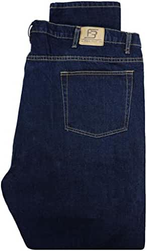 Big & Tall Men's Denim Jeans by Full Blue - Fixed Waist Dark Blue
