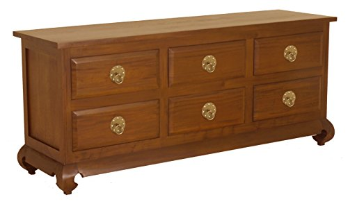 NES Furniture Fine Handcrafted Solid Mahogany Wood Shanghai Sideboard Buffet – 71 inches For Sale