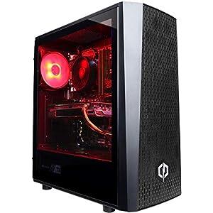 CyberpowerPC Wyvern Gaming PC – Intel Core i5-9400F, AMD Radeon RX 580 8GB, 8GB RAM, 1TB HDD, 550W 80+ PSU, Wifi, Windows 10, Ttake J24