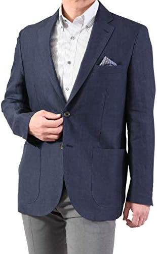 麻ジャケット リネンジャケット 2つボタン メンズ サマー COOLBIZ クールビズ テーラードジャケット