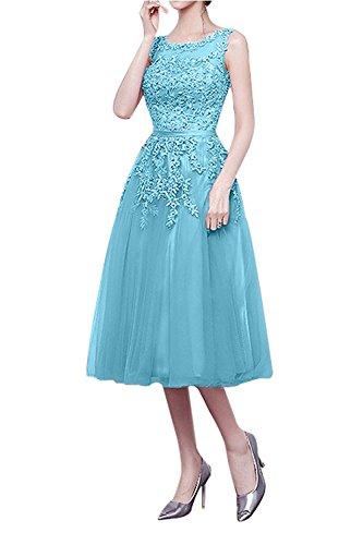 Abschlussballkleider blau knielang - Stylische Kleider für