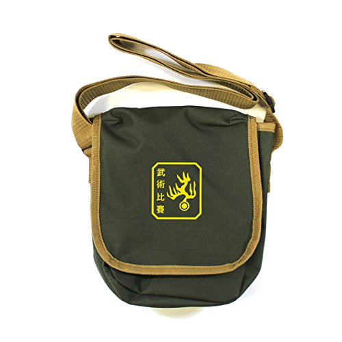 Arcane Store - Bolso al hombro de Algodón para hombre verde oliva