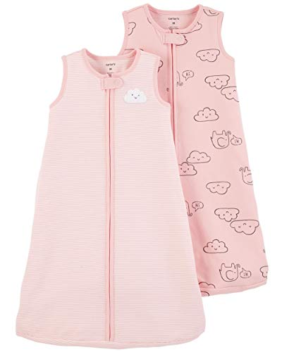 - Carter's Baby 2-Pack Cotton Sleepbags (Pink Clouds, Small)