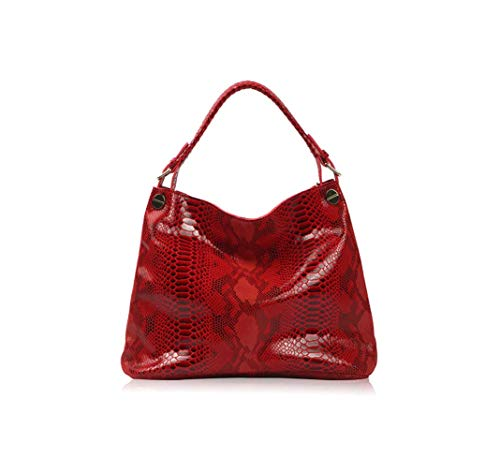Lozoco Women's Snake Skin Handbag Shopping Bag Shoulder Bag 5 Color