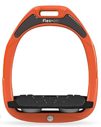 【 限定】フレクソン(Flex-On) 鐙 グリーンコンポジットレンジ Mixed ultra-grip フレームカラー: オレンジ フットベッドカラー: ブラック エラストマー: グレー 27987   B07KMPY5J4