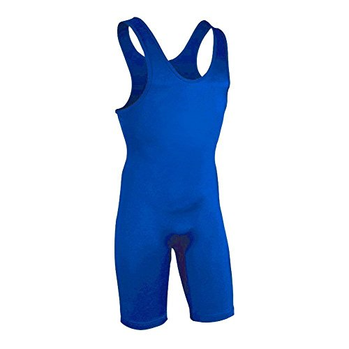 Brute Lycra Wrestling Singlet (Brute Lycra Heavy Weight Fabric Wrestling Singlet - Royal - Youth Large)