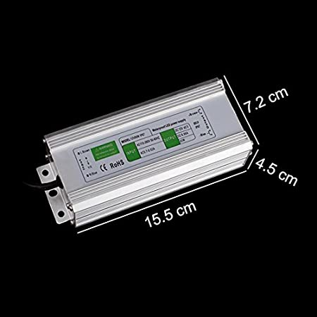 BAODE 10-200W DC 12V LED transformador transformador Adaptadores de corriente del conductor de la raya