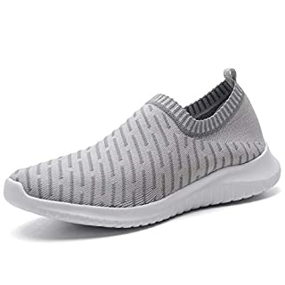 ECHOINE Women's Casual Athletic Sneakers - Lightweight Breathable Slip On Walking Shoes 9.5 B(M) US Gray